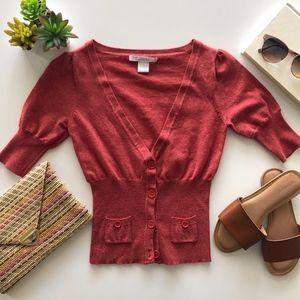 Coral Short Sleeve Cardigan